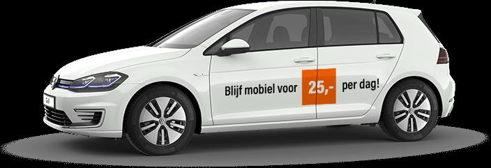 Blijf mobiel voor €25,- per dag!